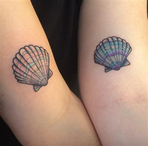 seashell tattoo 32 best friend designs tattooblend