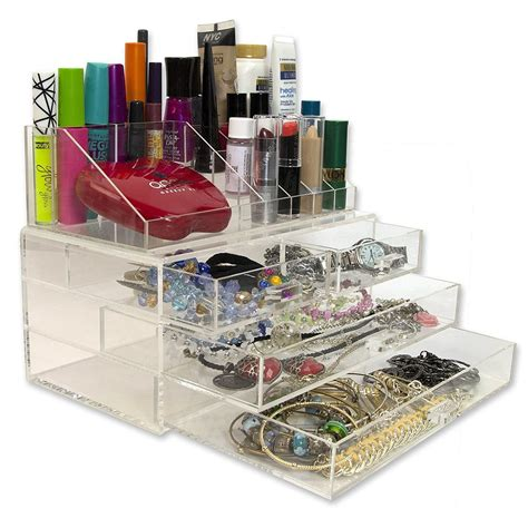 Makeup Compartments For Drawers by 20 Compartment Acrylic Cosmetic Organizer With Drawers And