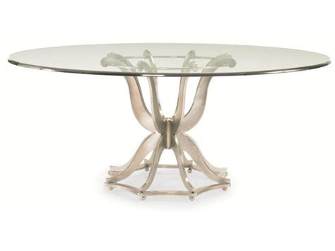 Dining Table Top Glass Century Furniture Dining Room Metal Base Dining Table With Glass Top 55a 307 Gladhill