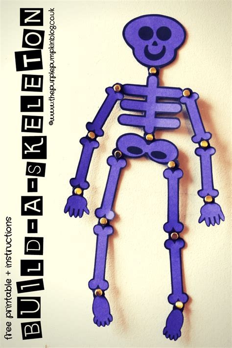 Halloween Home Made Decorations build a skeleton free printable instructions