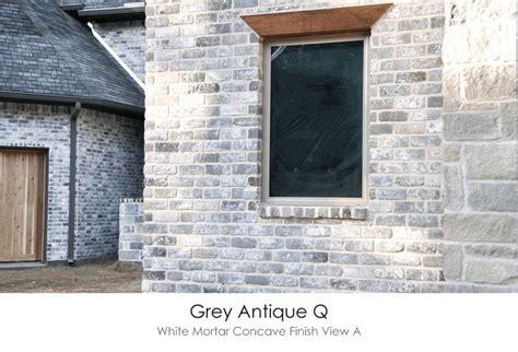 antique gray white mortar concave finish technique