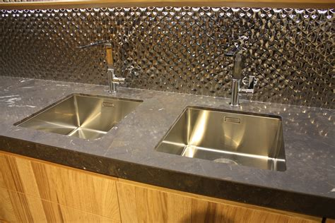 two sinks in kitchen kitchen sink styles showcased at eurocucina