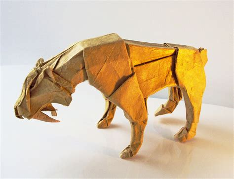 Advanced Origami Tiger - the of origami converts the paper into beautiful