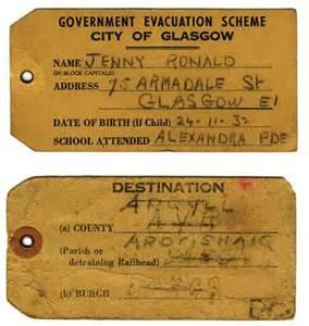 World War 2 Evacuee Label Template by Evacuation World War Ii