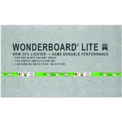 home depot cement board custom building products wonderboard lite 5 ft x 3 ft x