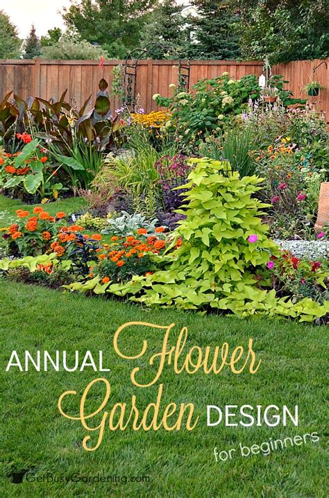 Designing A Flower Garden Layout Annual Flower Garden Design For Beginners