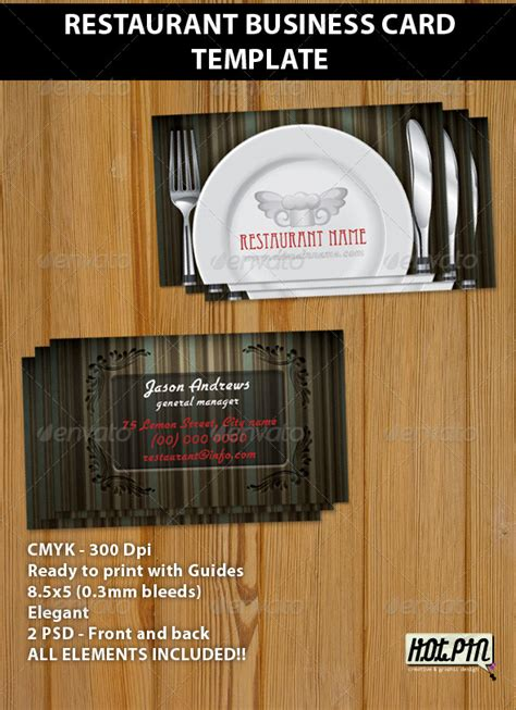 cafe business card template restaurant business card template by hotpin graphicriver