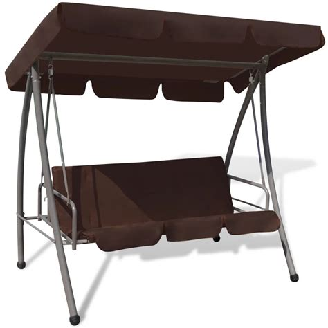 swing chair with canopy outdoor swing chair bed with canopy coffee vidaxl
