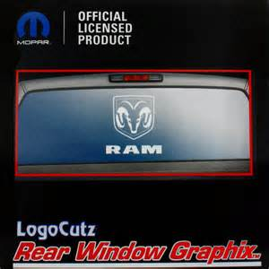big dodge ram white vinyl decal emblem graphic sticker for