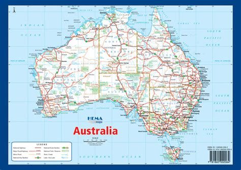 printable australian road maps australia a4 map hema maps books travel guides buy