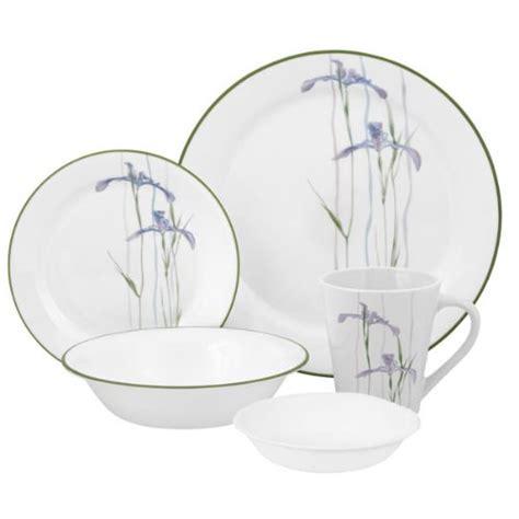 corelle pattern names corelle impressions shadow iris 30 piece dinnerware set