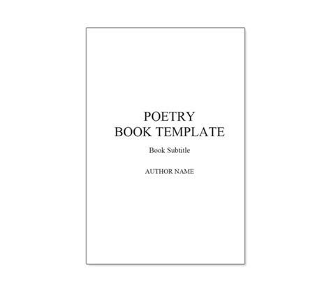 word book template 10 best images of poetry book cover template poetry book