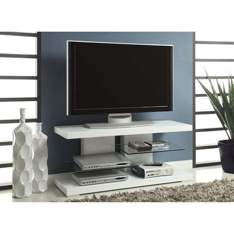coaster furniture 7008 tv stand with alternating glass - Contemporary Tv Stands