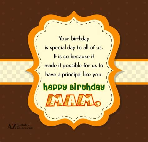 Happy Birthday Ma Am Quotes Birthday Wishes For Principal Page 6