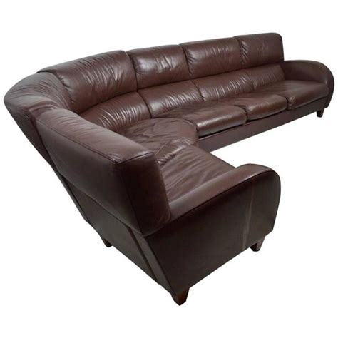 poltrona frau leather large leather sofa by poltrona frau for sale at 1stdibs