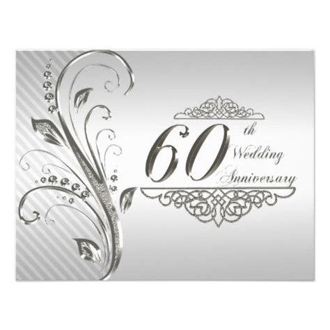 60th Wedding Anniversary by 60th Wedding Anniversary Invitation Card 60th Wedding