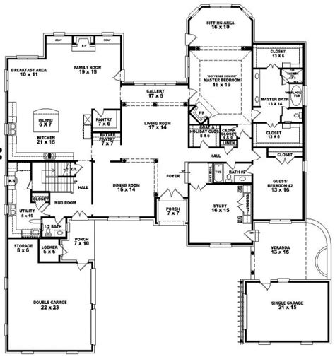 5 Bedroom 3 Bathroom House Plans by 654276 4 Bedroom 4 5 Bath House Plan House Plans