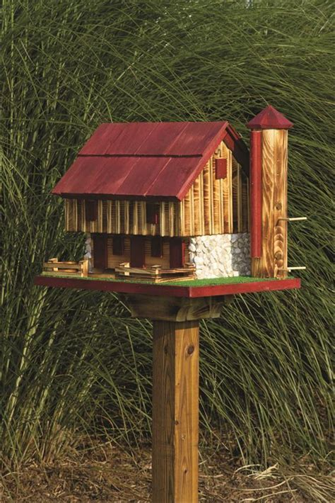 barn bird feeder  silo  dutchcrafters amish furniture
