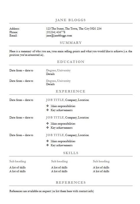 simple resume headings 17 best images about how to write a cv on