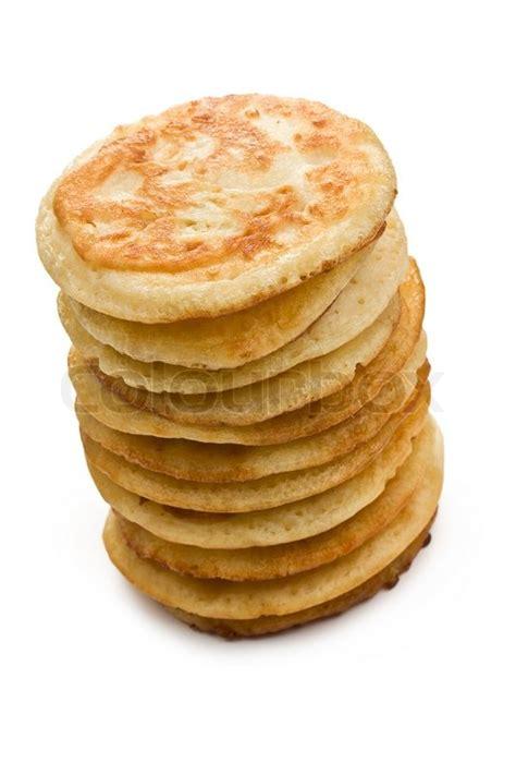Pancake Colour Box Pile Of Pancakes On White Background Stock Photo Colourbox