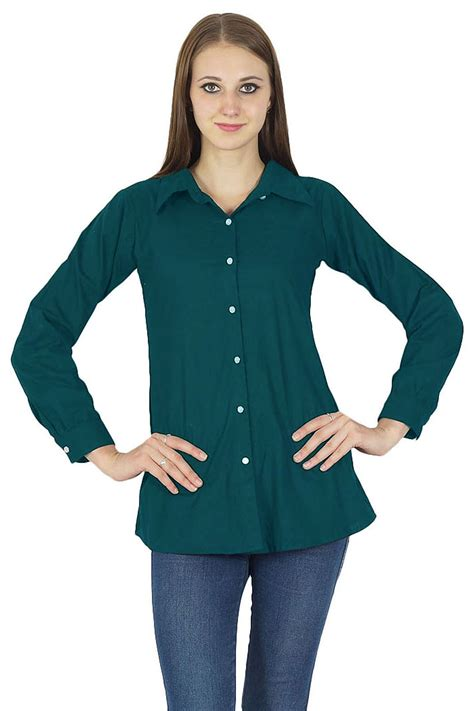 Blouseoutfit Galery Top cotton shirt blouse fashion wear button sleeve top casual dress
