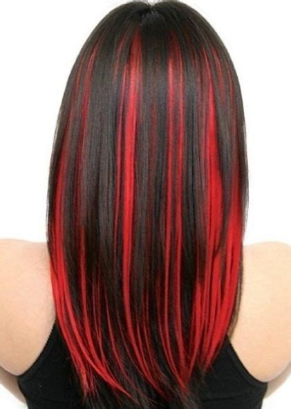pictures of sapphire black hair with red highlights 1000 ideas about red streaks on pinterest red brown