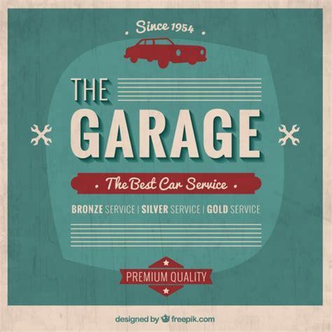 garage door posters garage poster in retro style vector free