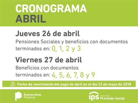 cronograma de pagos mes de abril 2015 ips cronograma de pagos mes de abril 2018 171 para jefaturas