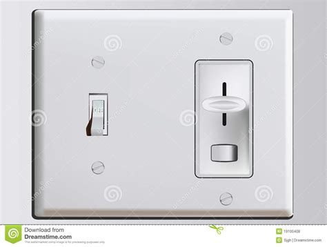 Home Design Outlet Center Combination Switch Plate With Dimmer Royalty Free Stock