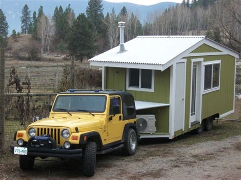 Pete S 125 Sq Ft Tiny House On Wheels In British Columbia Towing A Tiny House