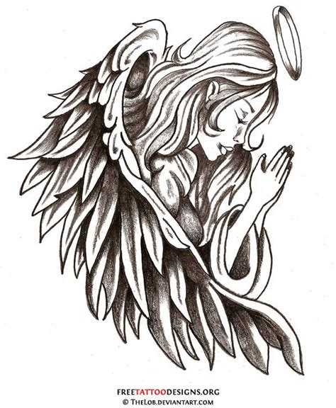 free angel tattoo designs tattoos wings guardian and st michael