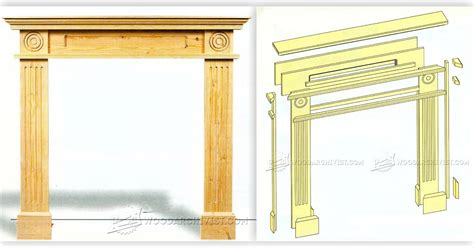 fireplace surround plans woodarchivist