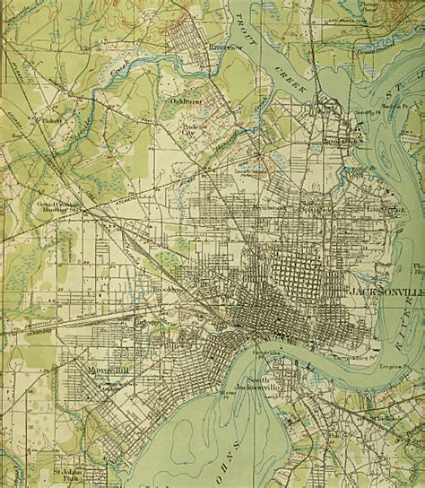 map of greater map of greater jacksonville 1918 florida