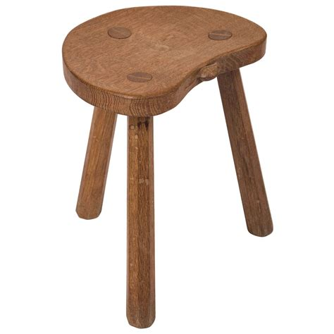 Milk Stool a robert thompson quot mouseman quot stool at 1stdibs