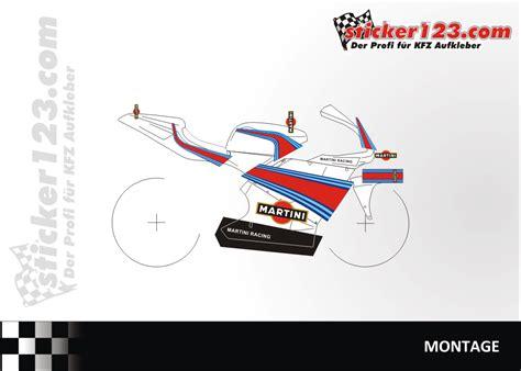 Martini Racing Design Aufkleber by Sticker123