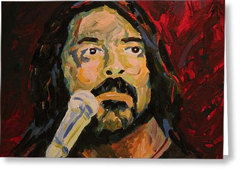 Dave Grohl Birthday Card Dave Grohl Portrait Painting By Robert Yaeger