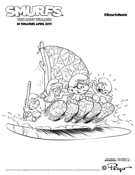smurfs  lost village coloring pages