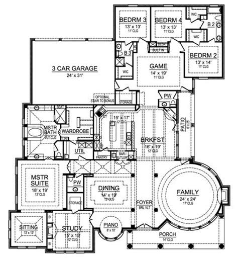 stone mansion floor plans gray stone 4521 4 bedrooms and 3 baths the house designers