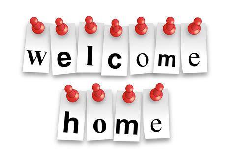 clipart welcome home notes
