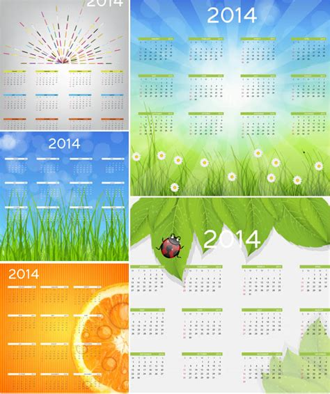 2014 calendar template vector vector graphics blog