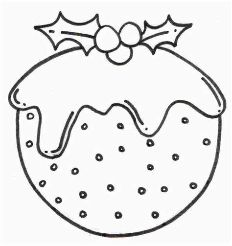 colouring pages christmas pudding christmas pudding coloring sheet