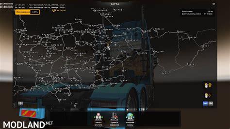 mod map game euro truck simulator 2 morozov express map v 6 9 mod for ets 2
