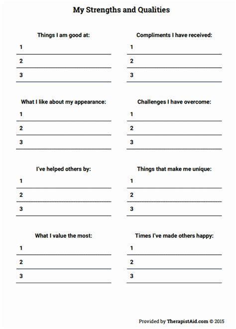 20 Free Self Esteem Worksheets For Adults Diocesisdemonteria Org Social Skills Improvement System Report Template