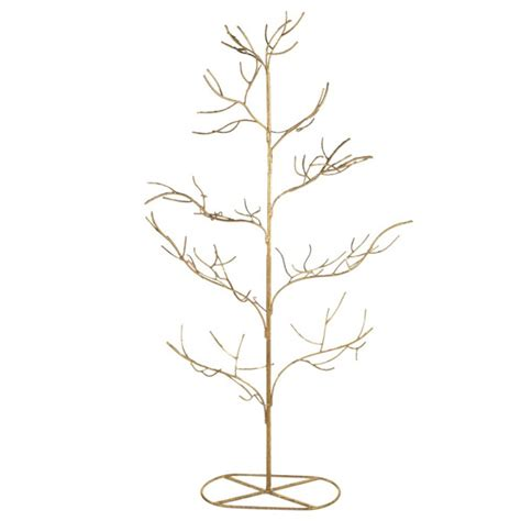 Home And Decorating Gold Twig Metal Christmas Tree