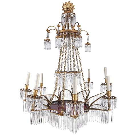 Neoclassical Chandelier A Gilt Bronze And Cutglass Neoclassical Chandelier At 1stdibs