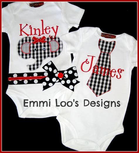 alabama onesies for babies siblings matching alabama roll tide set