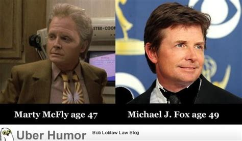 michael j fox quotes back to the future marty mcfly age 47 vs michael j fox age 49 funny