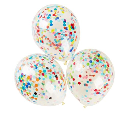 Confetti 30 Cm 30cm confetti balloon helium filled