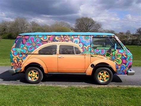 beetle painted  vw volkswagen pictures  gorgeous vw bus art paintings vintage everyday