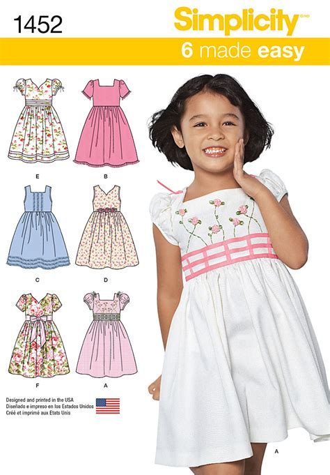 simplicity pattern website simplicity pattern 1452a 3 4 5 6 7 child dresses jo ann